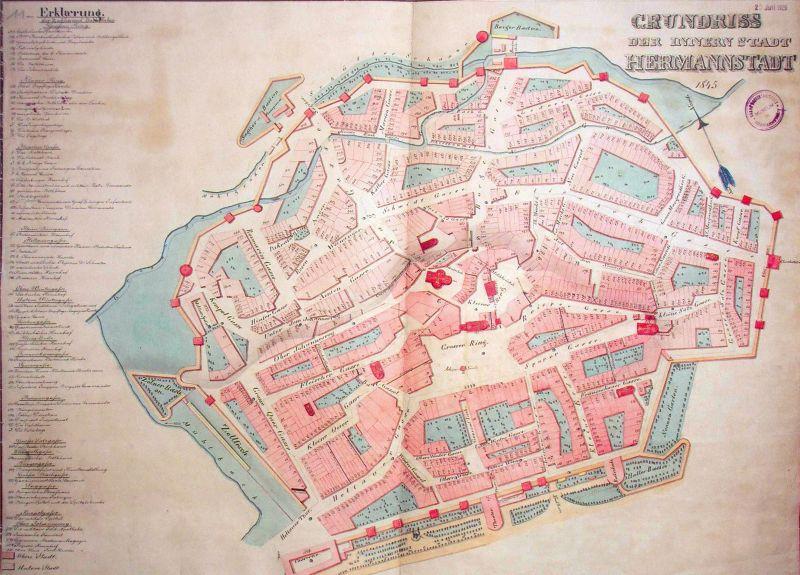 harta sibiu 1845