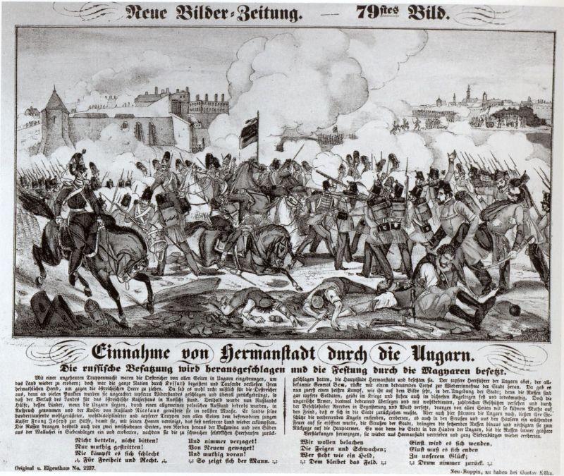 sibiul litografie 1849